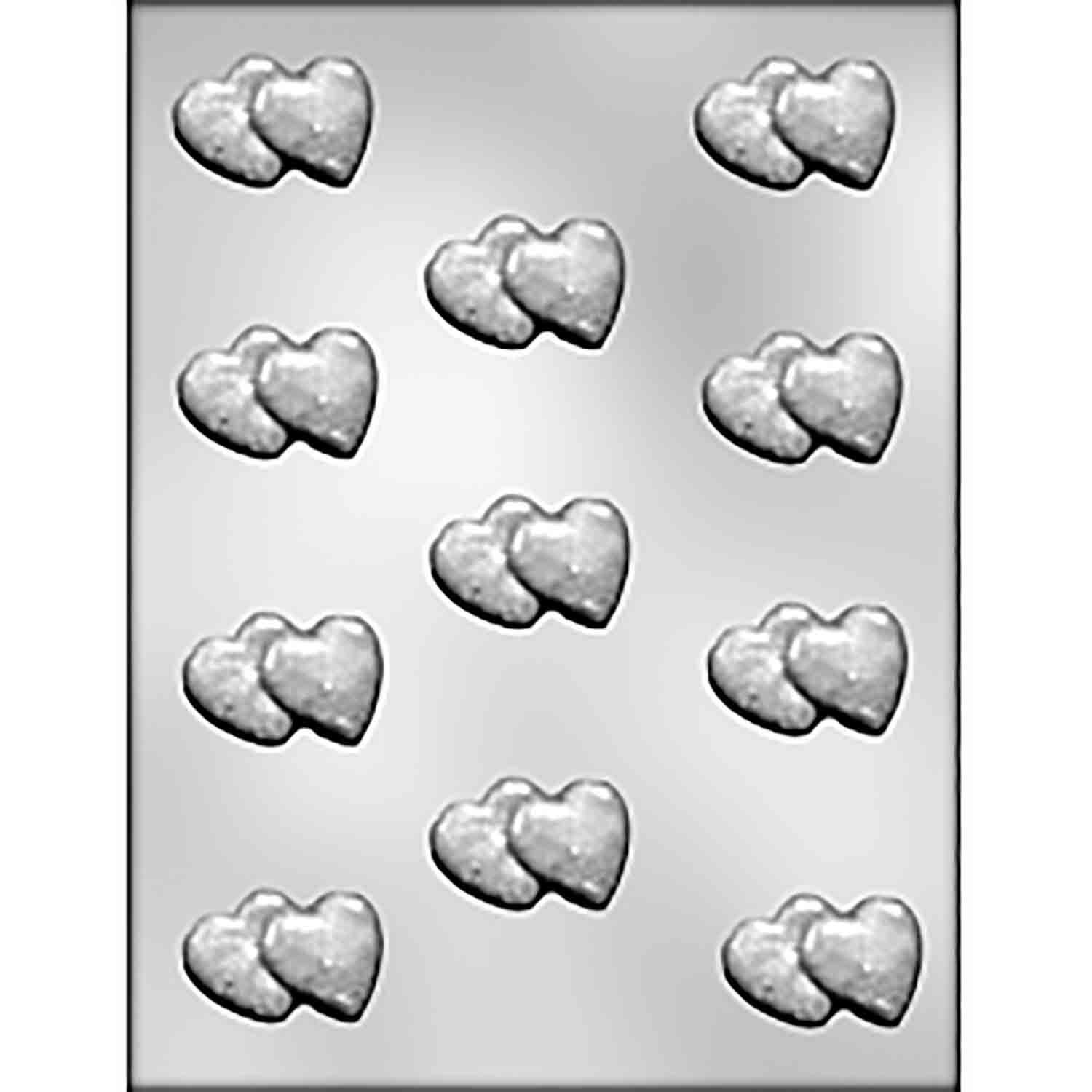 Double Hearts Chocolate Candy Mold