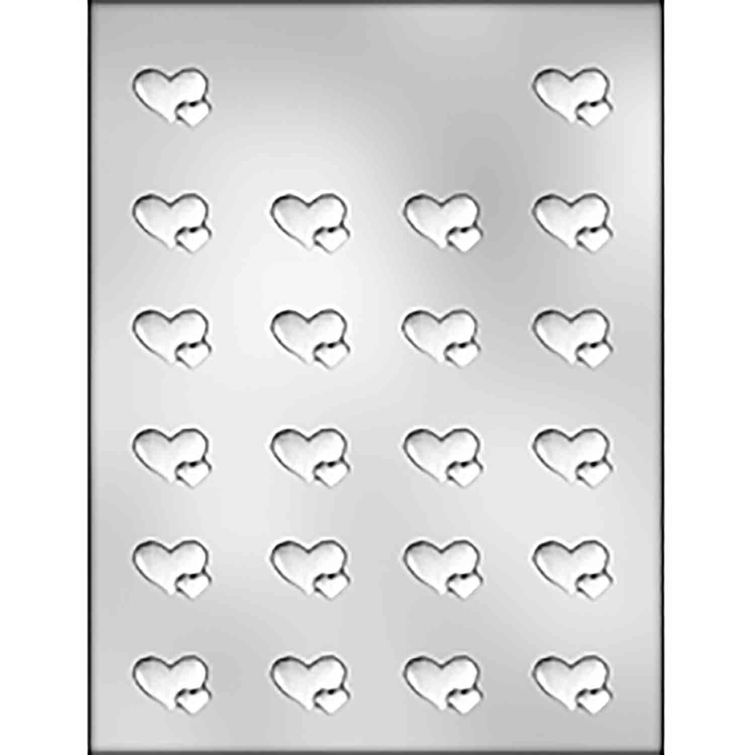 Small Double Hearts Chocolate Candy Mold