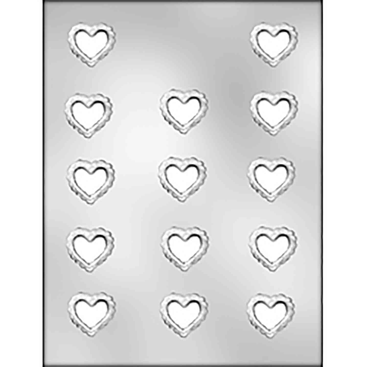 Filigree Heart Chocolate Candy Mold
