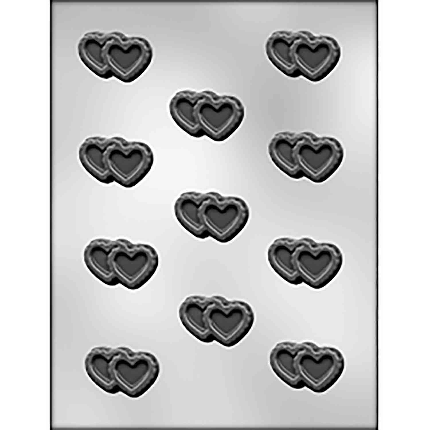 Double Filigree Heart Chocolate Candy Mold