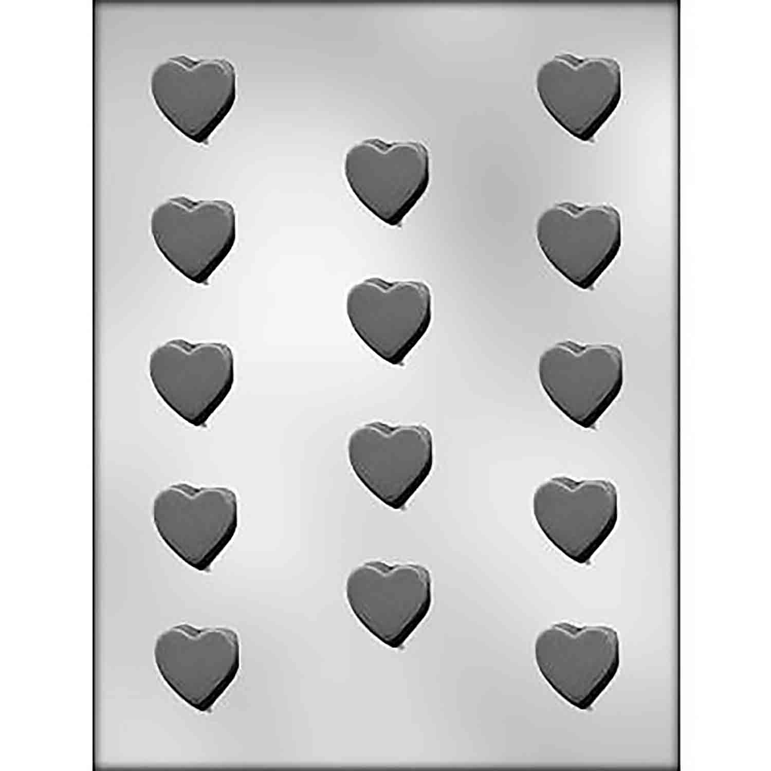 Plain Hearts Chocolate Candy Mold