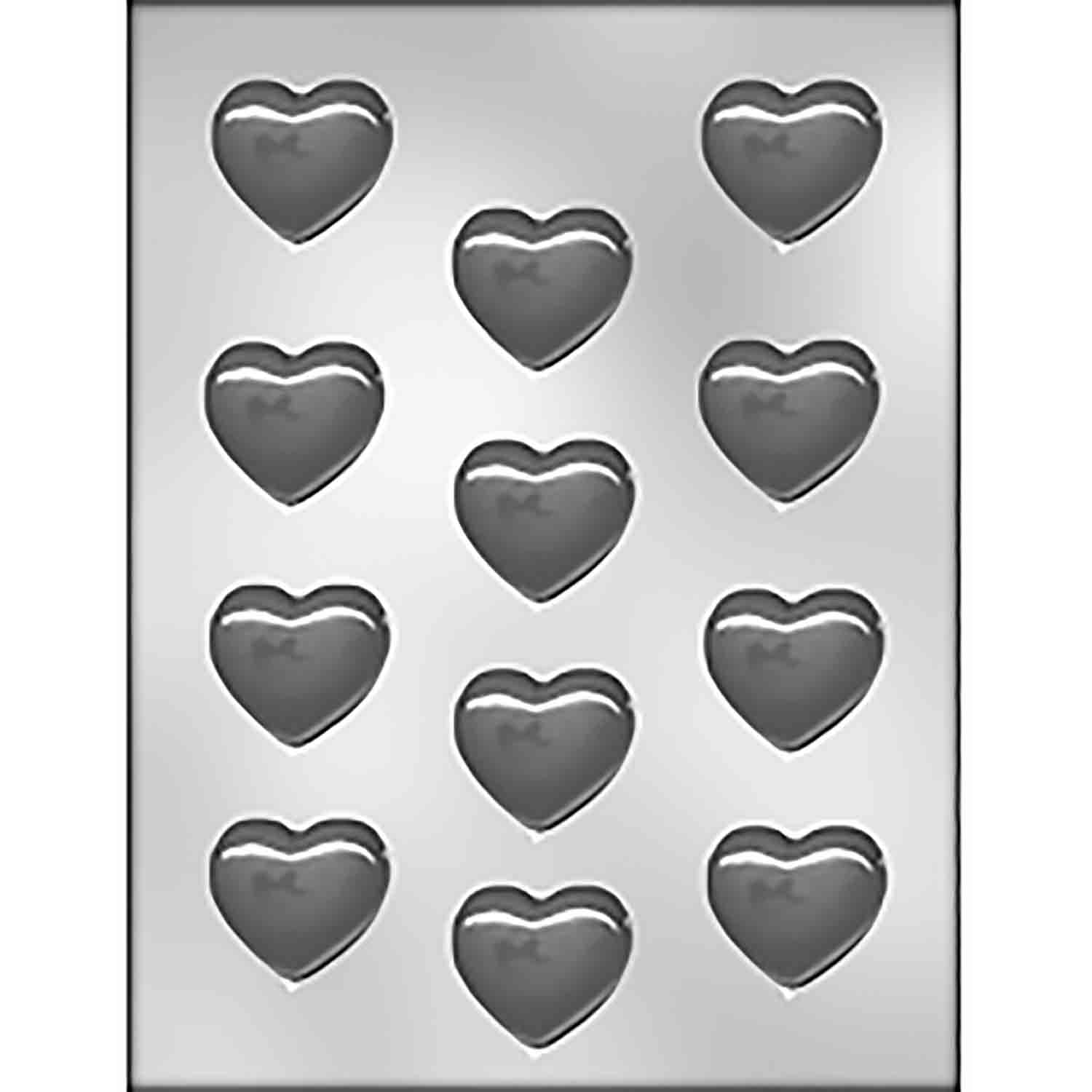 Smooth Heart Chocolate Candy Mold