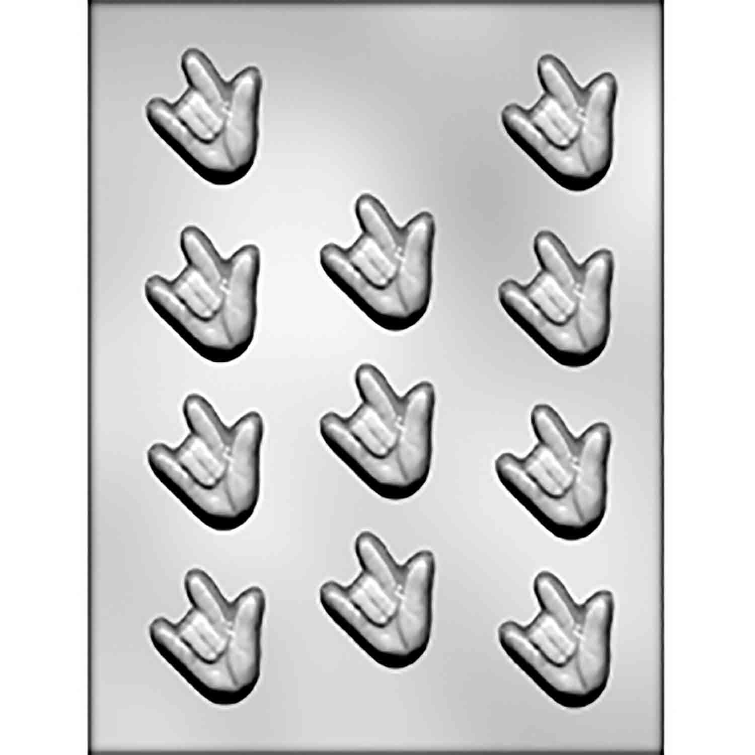 Bite Size I Love You Sign Language Candy Mold