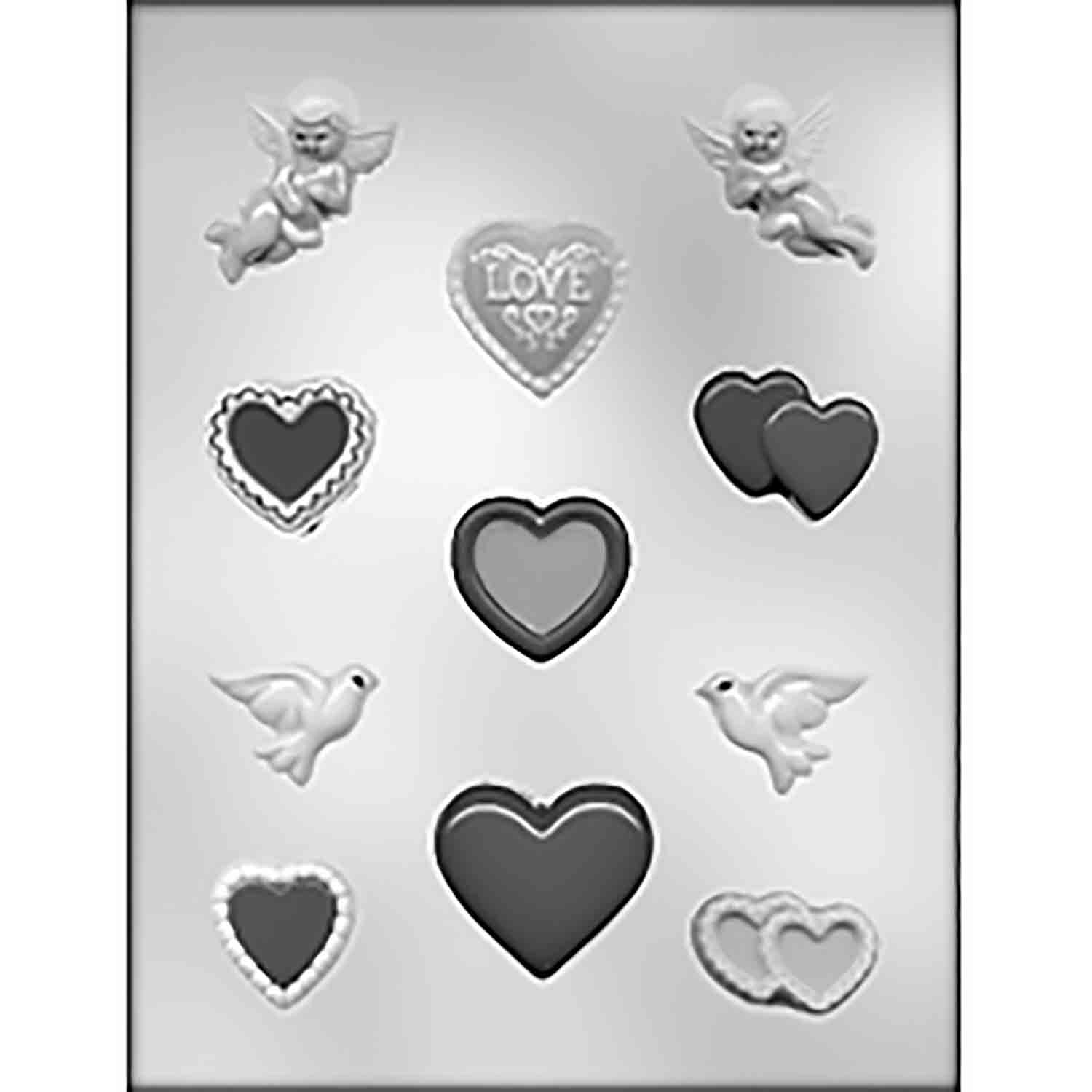 Valentine Assortment Chocolate Candy Mold