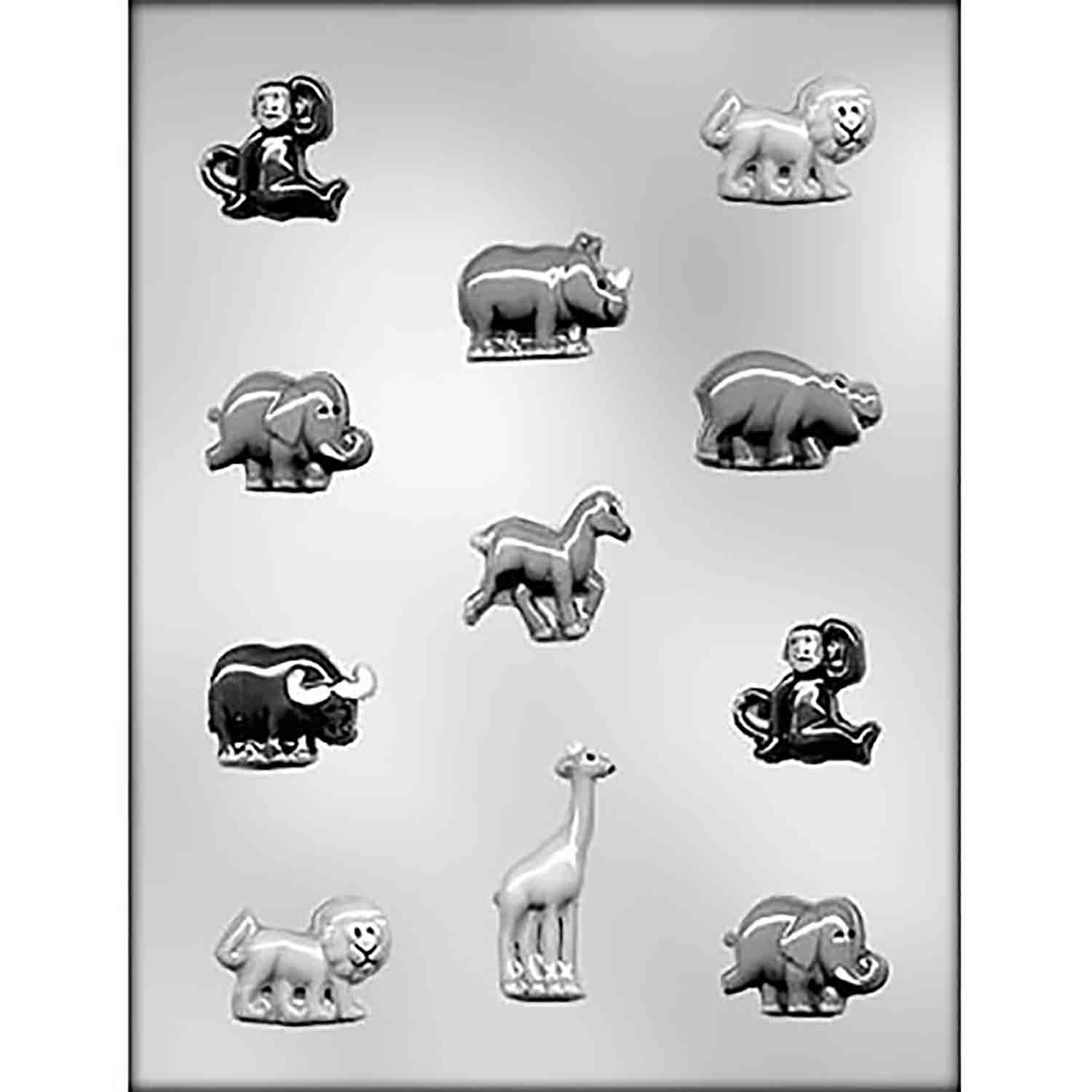 Zoo Animal Assortment Chocolate Candy Mold