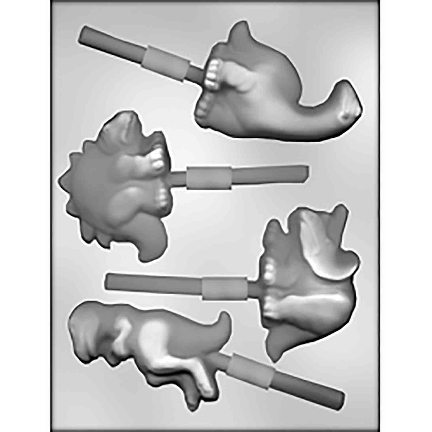 Dinosaur Sucker Chocolate Candy Mold