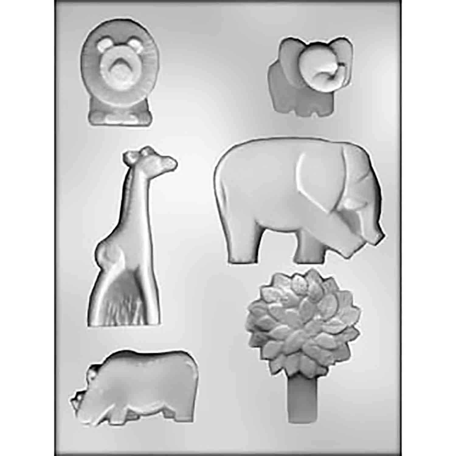 Jungle Animals Chocolate Candy Mold