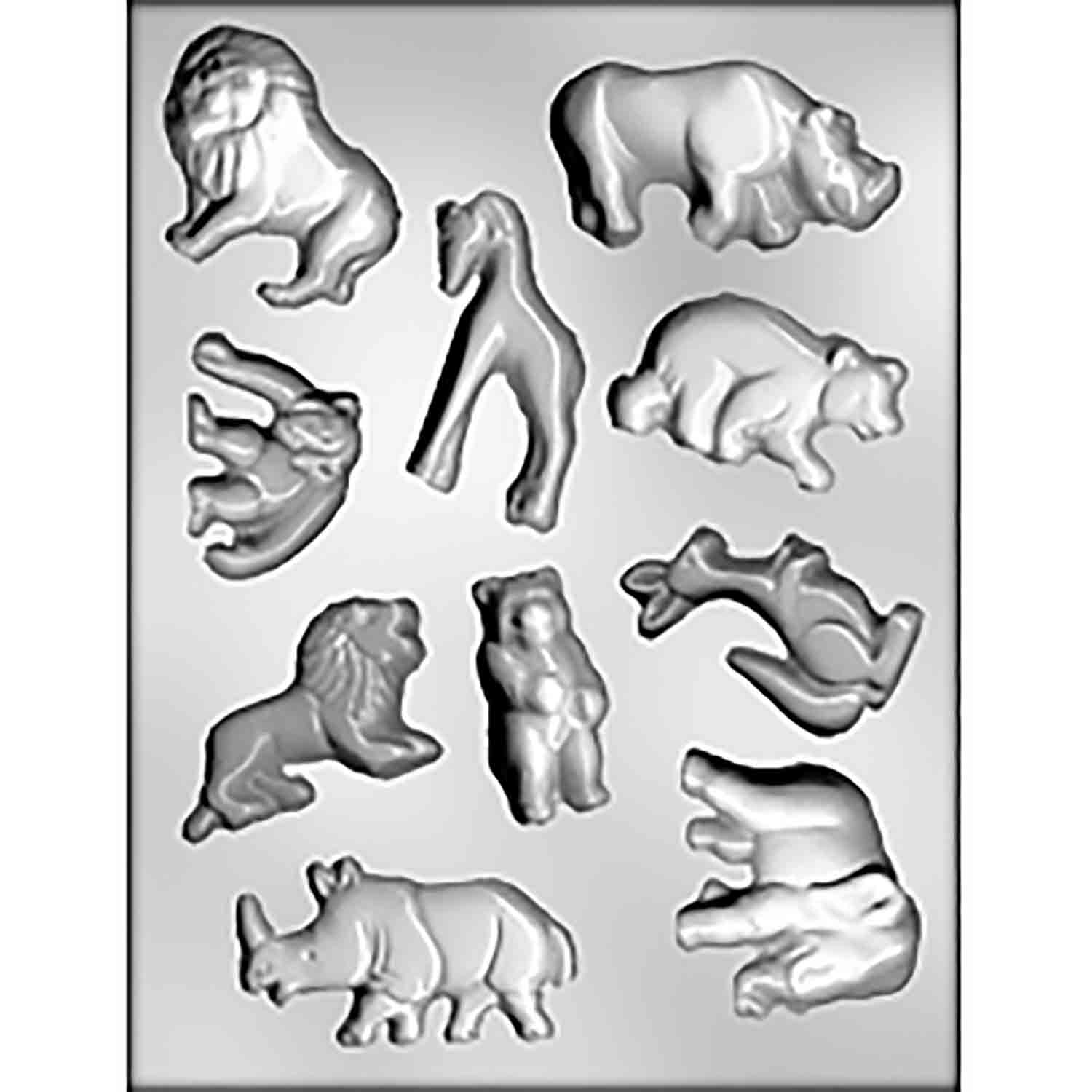 Zoo Animals Chocolate Candy Mold