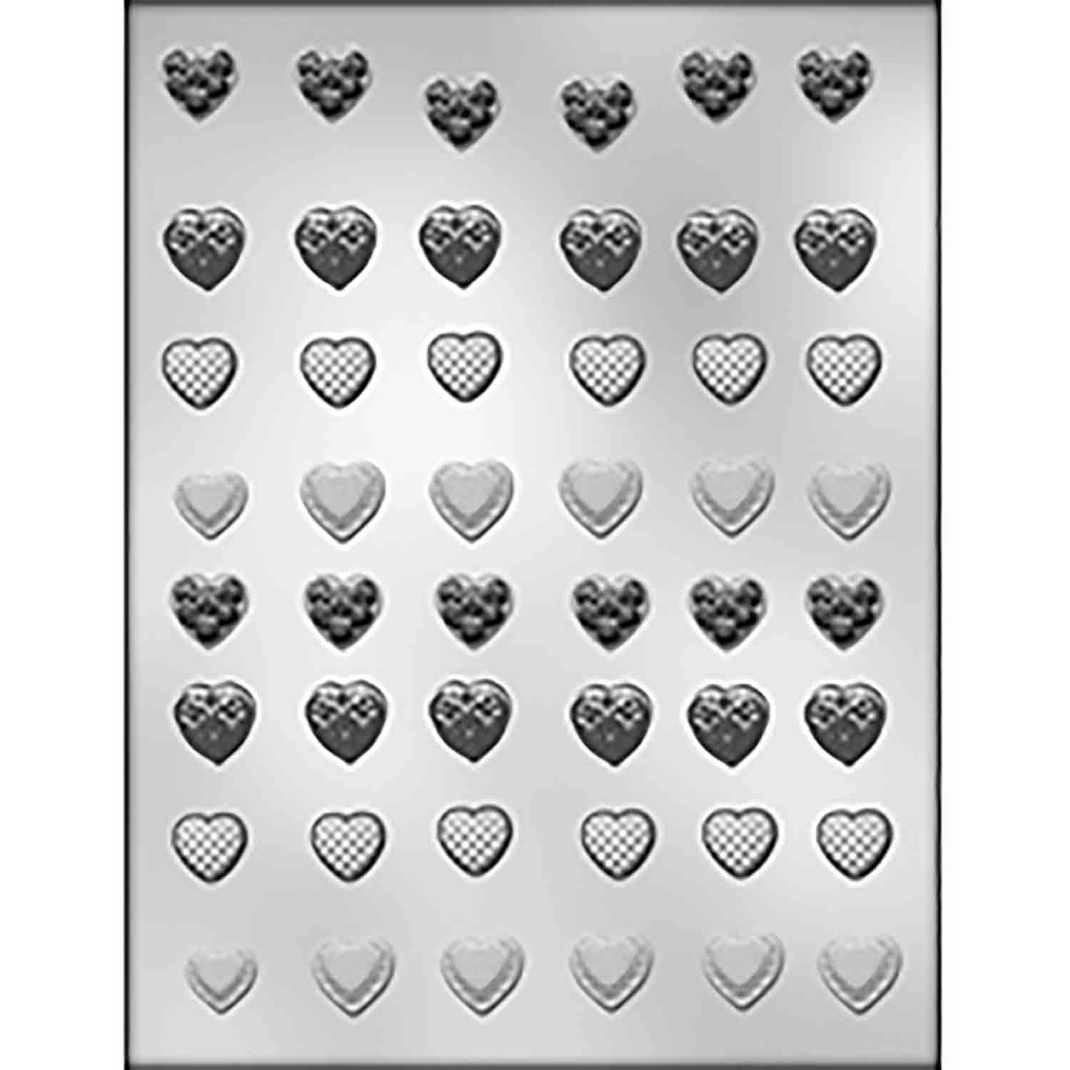 Mini Heart Assortment Chocolate Candy Mold