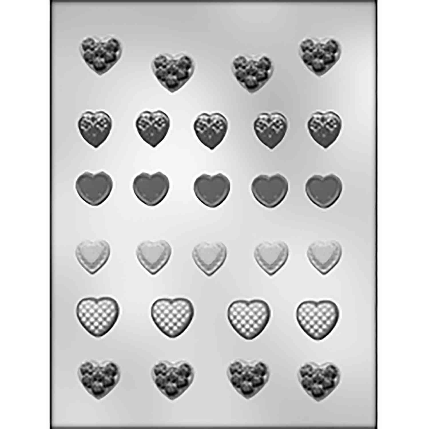 Small Heart Assortment Chocolate Candy Mold