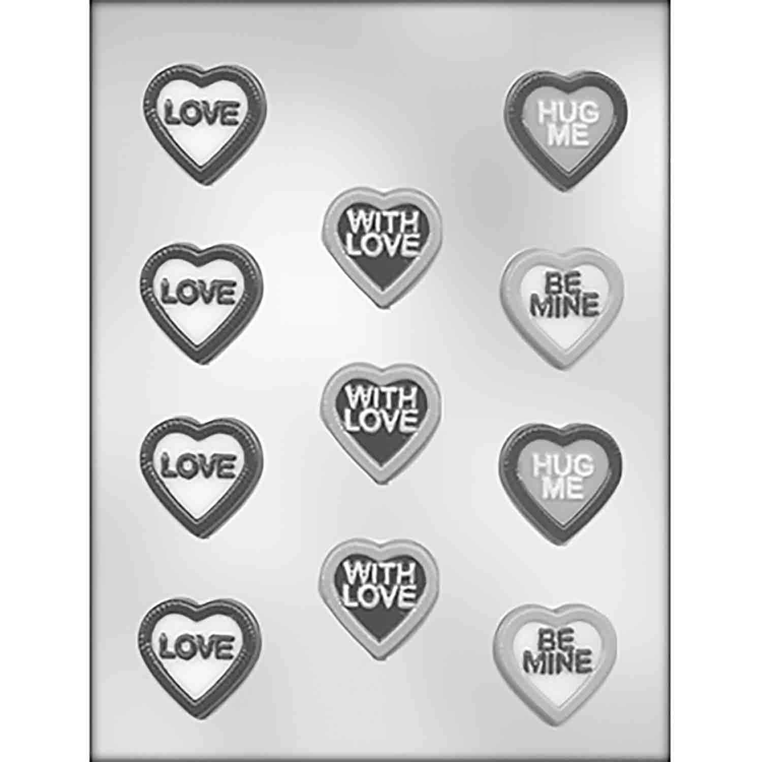 Heart with Messages Chocolate Candy Mold