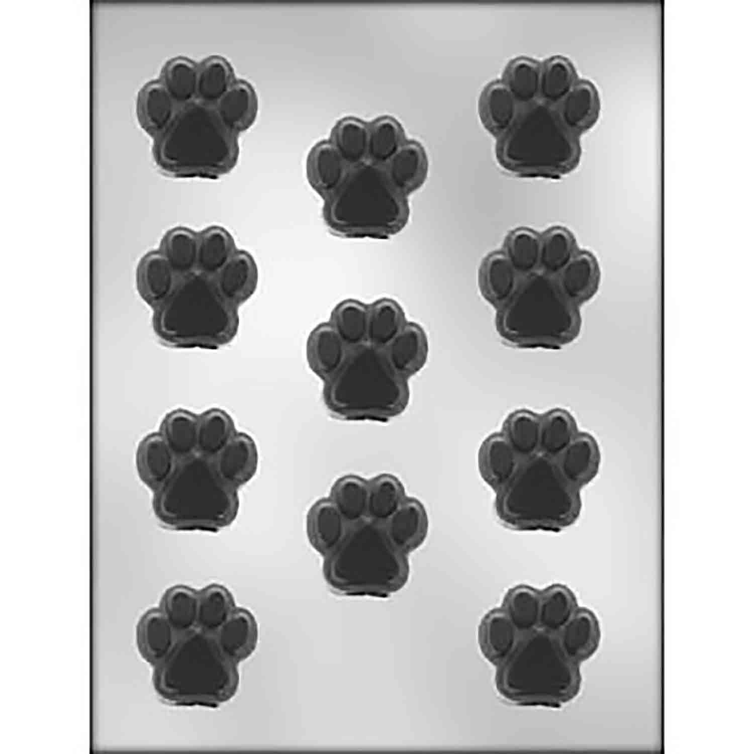 Paw Print Chocolate Candy Mold - 90-11275 | Country Kitchen SweetArt