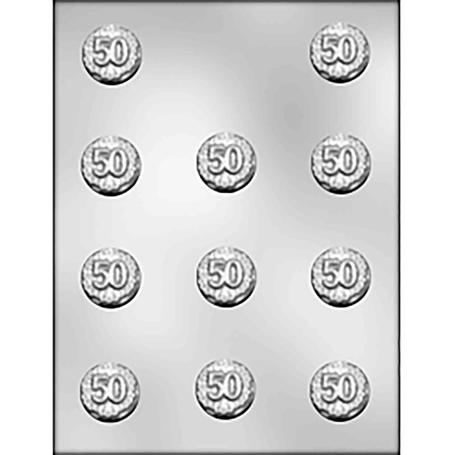 50th Anniversary Mint Chocolate Candy Mold