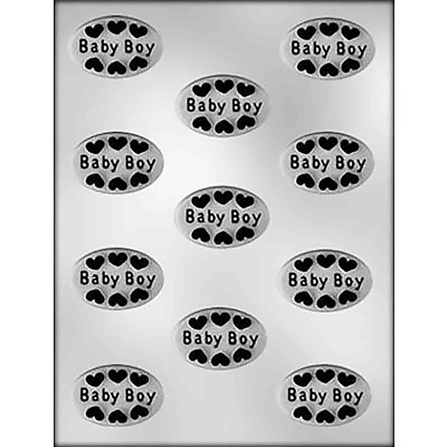 Baby Boy with Hearts Mold