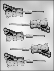 Bear with Balloons Sucker Chocolate Candy Mold