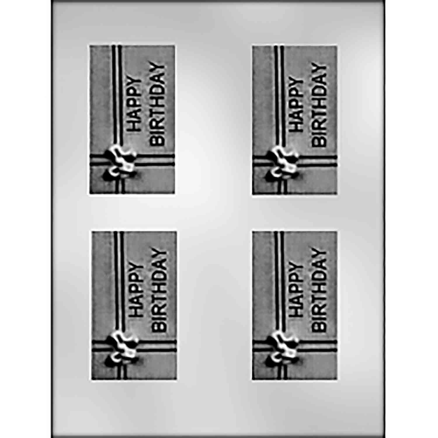 Happy Birthday Gift Business Card Candy Mold