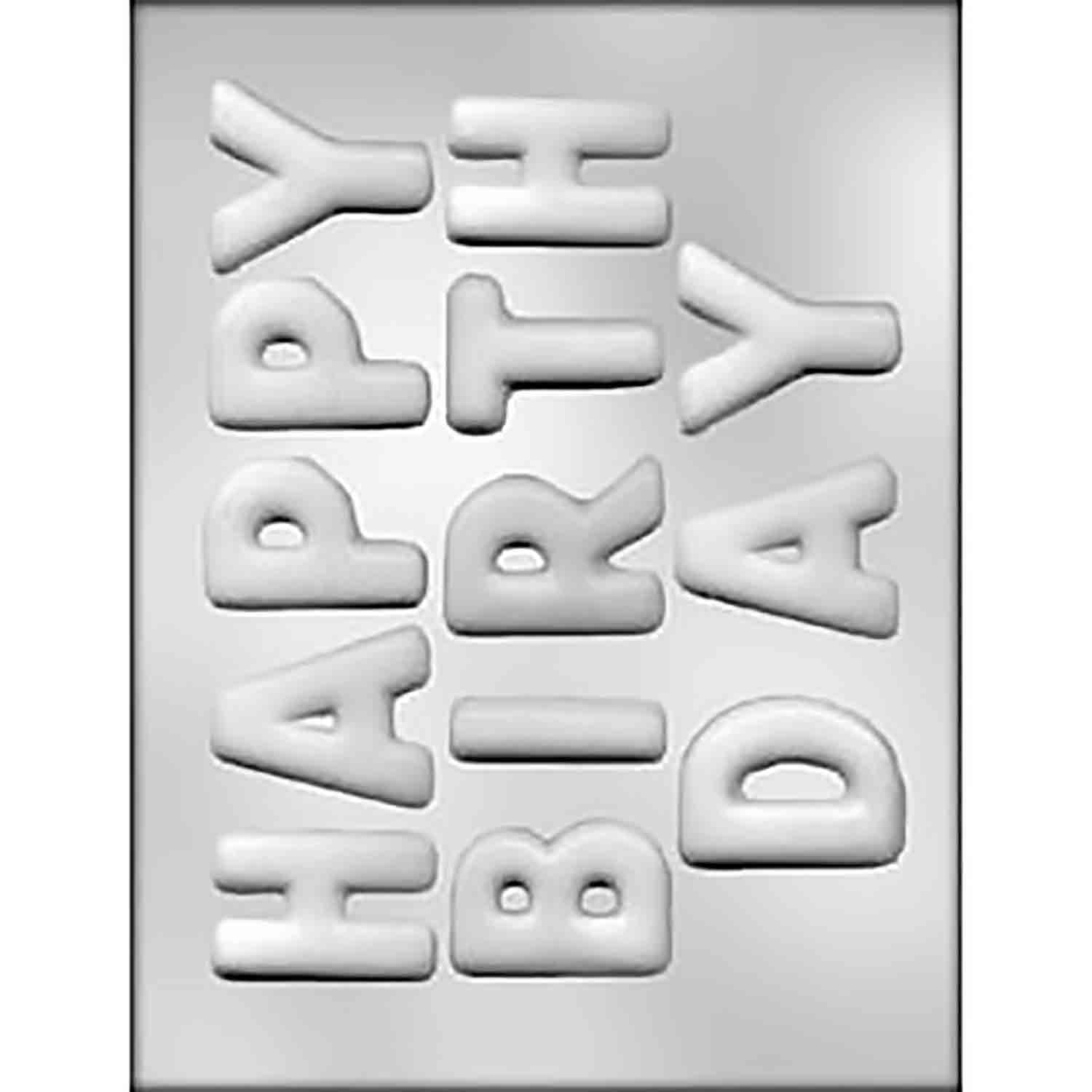 Birthday Letters Chocolate Candy Mold