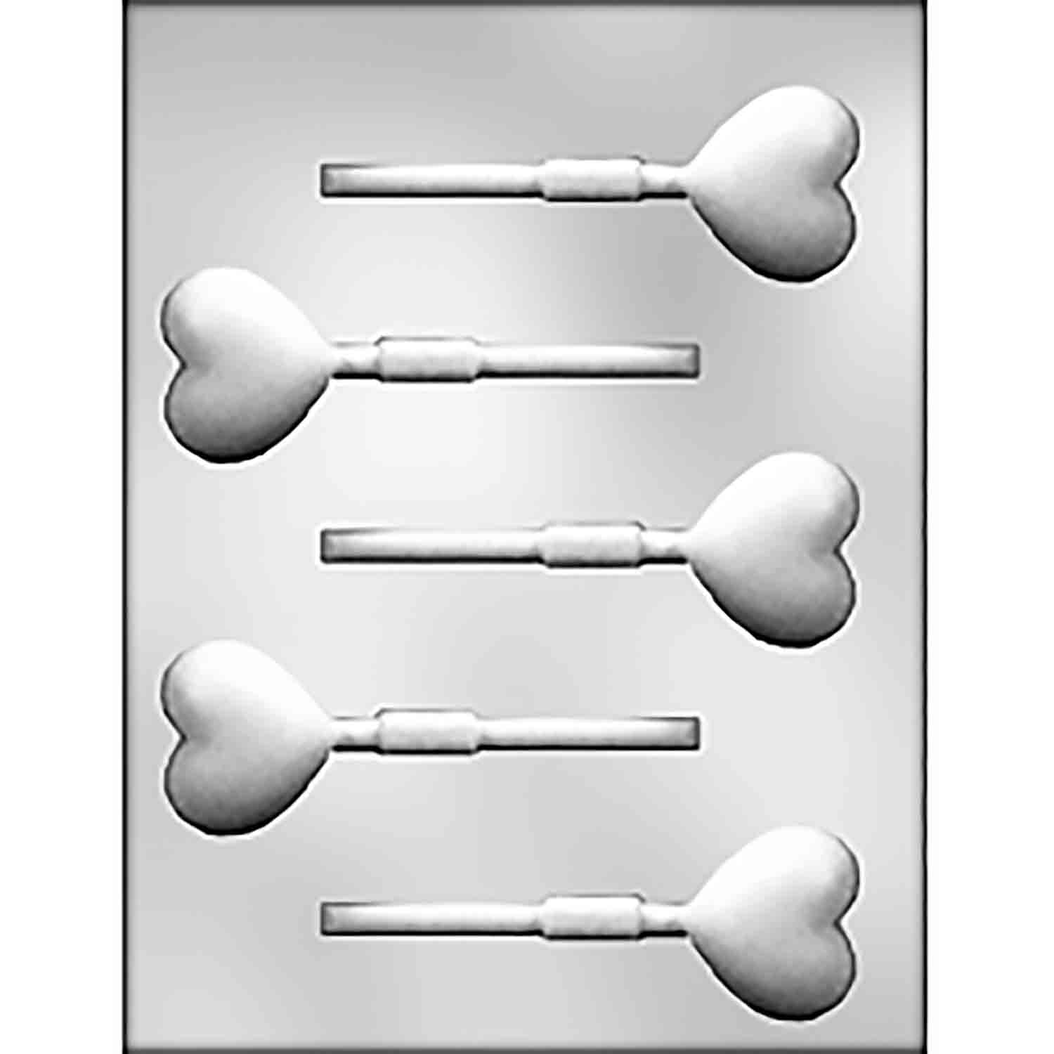 Deep Heart Sucker Chocolate Candy Mold