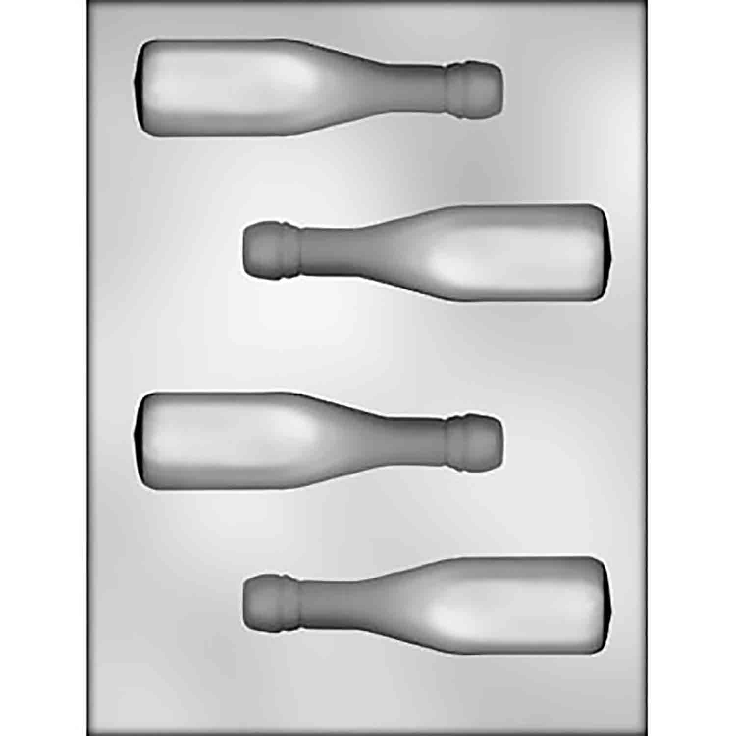 3D Champagne Bottle Chocolate Candy Mold