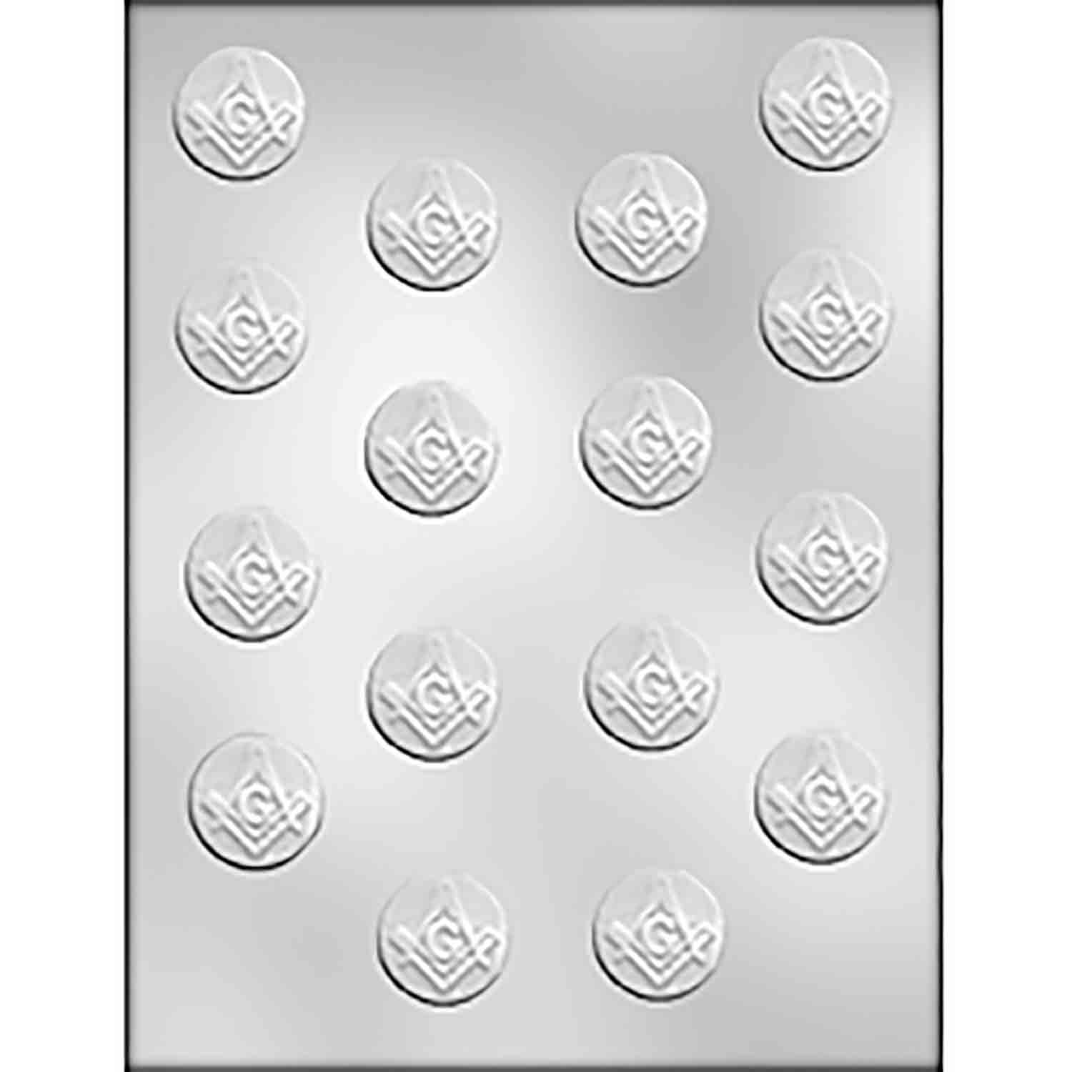 Masonic Mint Chocolate Candy Mold