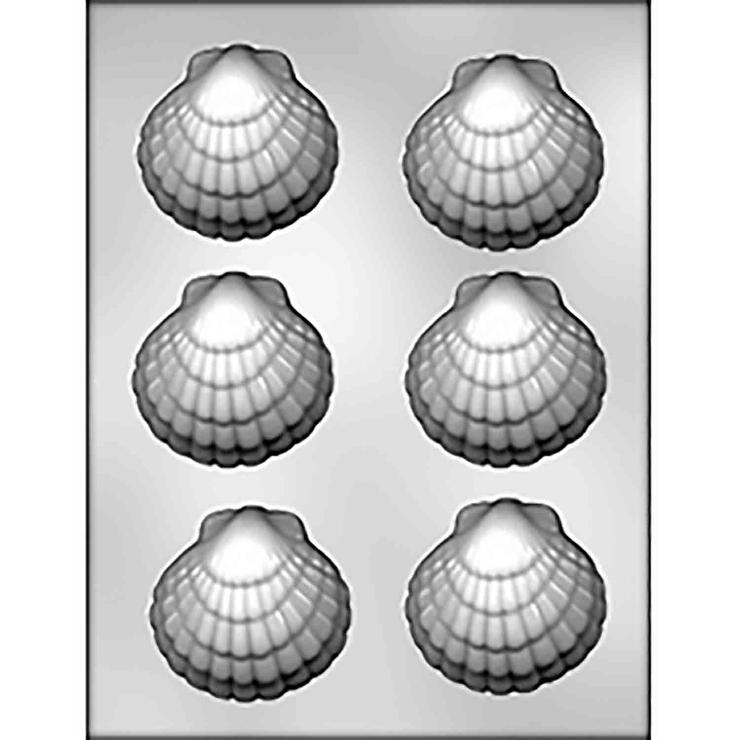 Large Seashell Chocolate Candy Mold