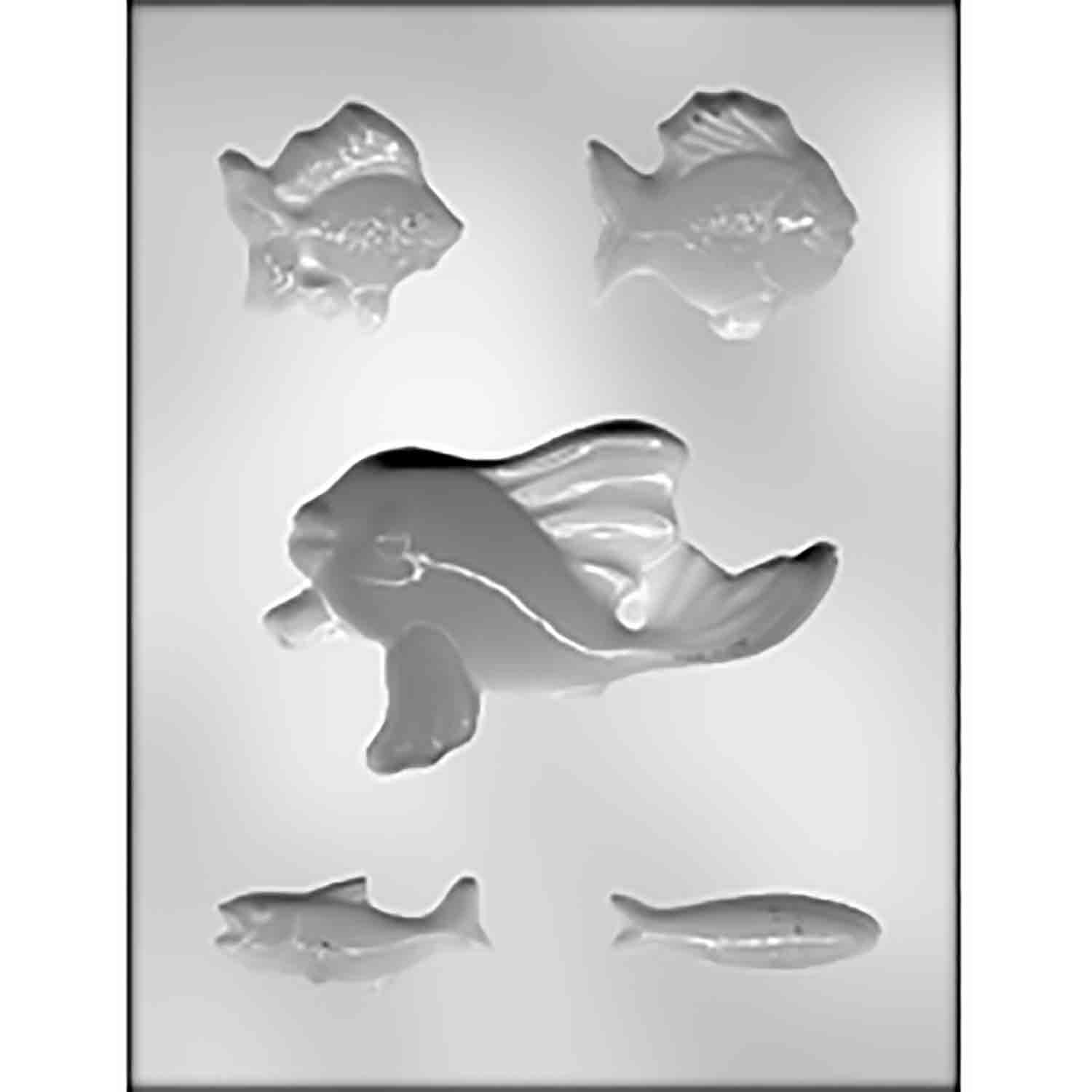 Fish Assortment Chocolate Candy Mold