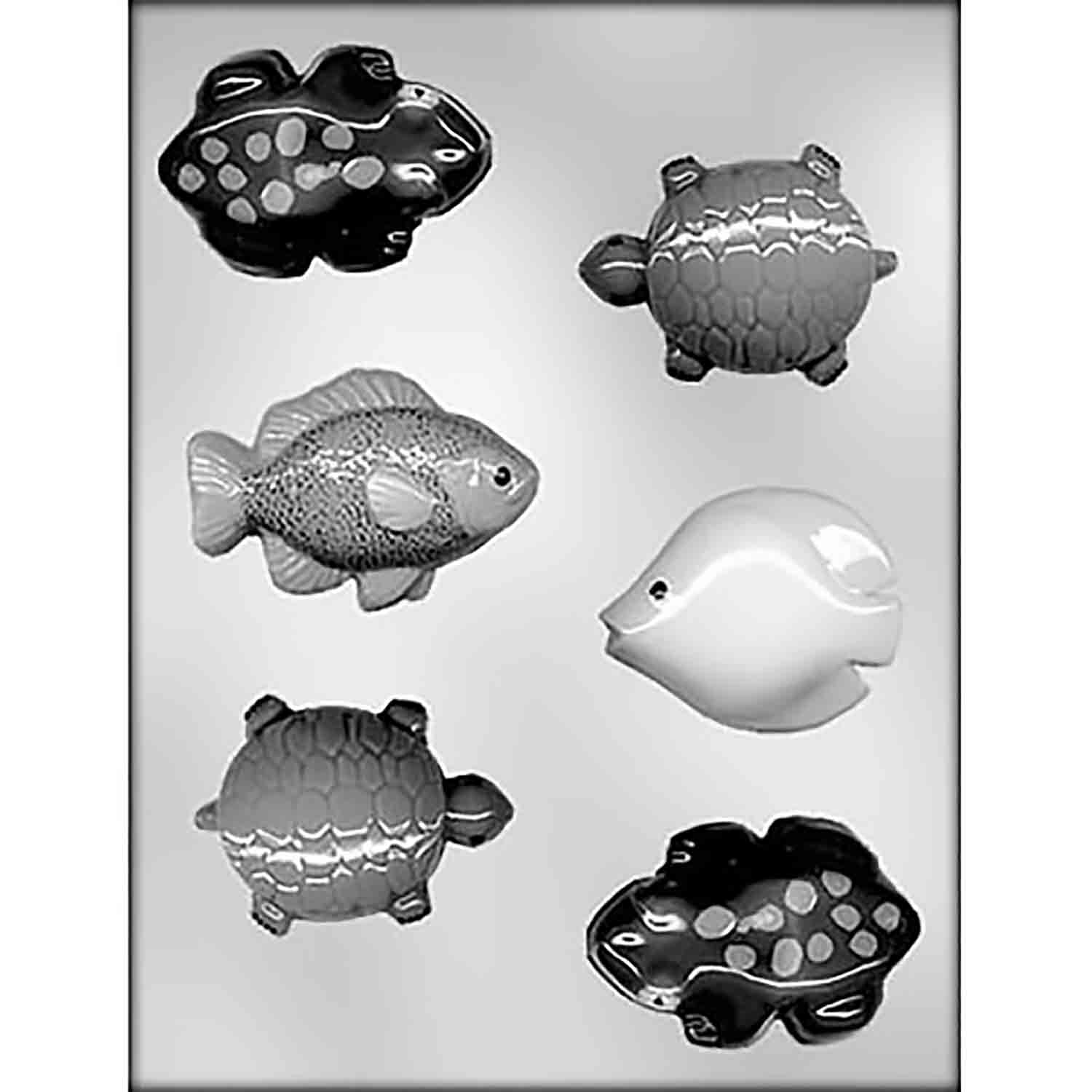 Fish, Frogs & Turtles Chocolate Candy Mold
