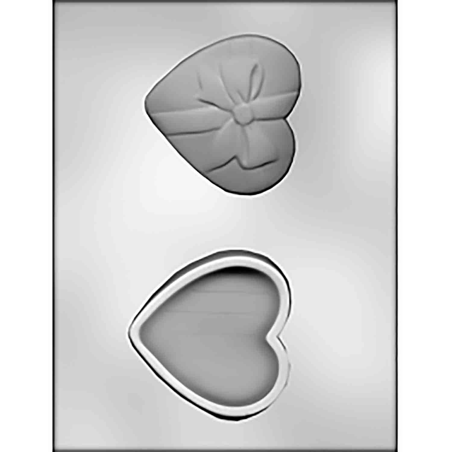 Heart with Bow Box Chocolate Candy Mold