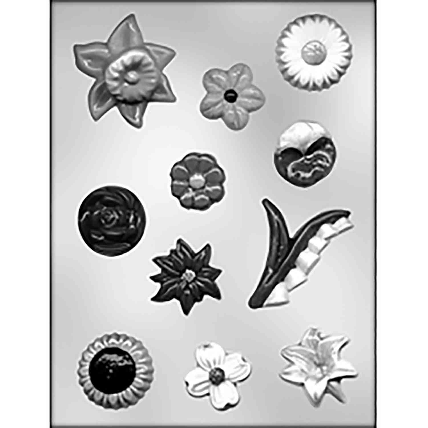 Flower Assortment Chocolate Candy Mold