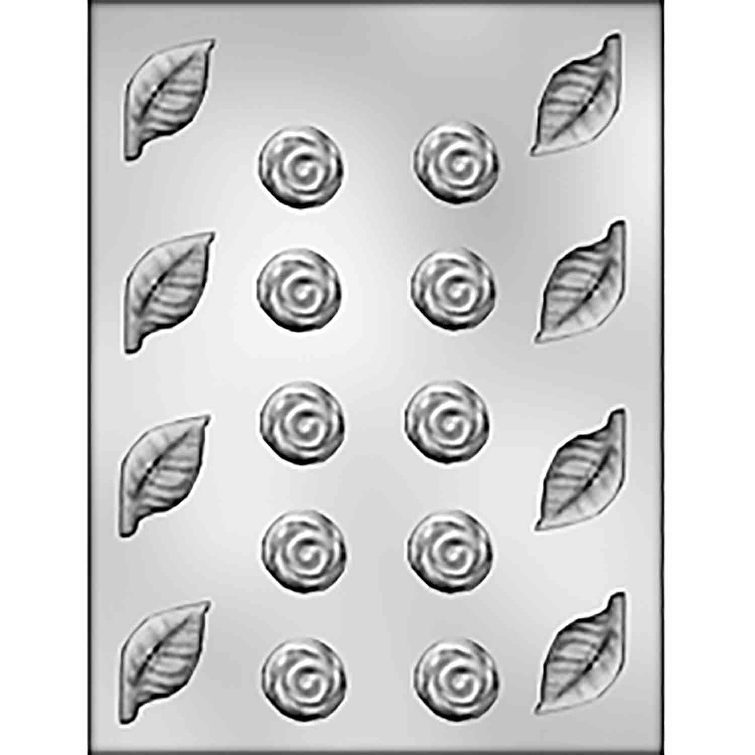 Wedding Roses & Leaves Chocolate Candy Mold