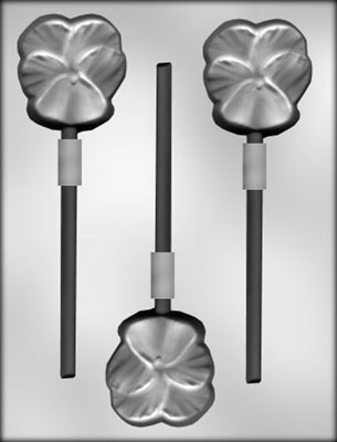 Pansy Sucker Chocolate Candy Mold