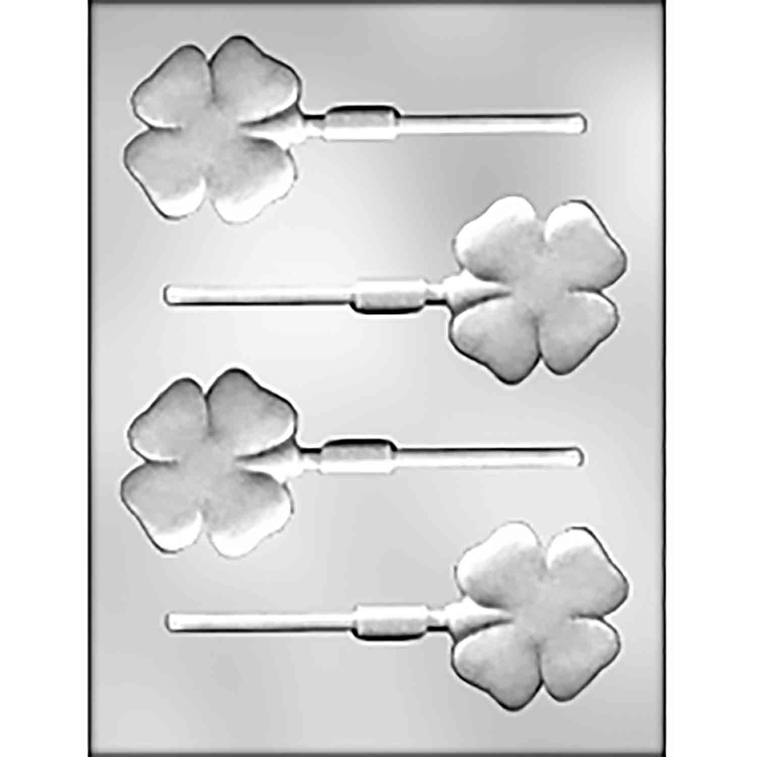 Four Leaf Clover Sucker Chocolate Candy Mold