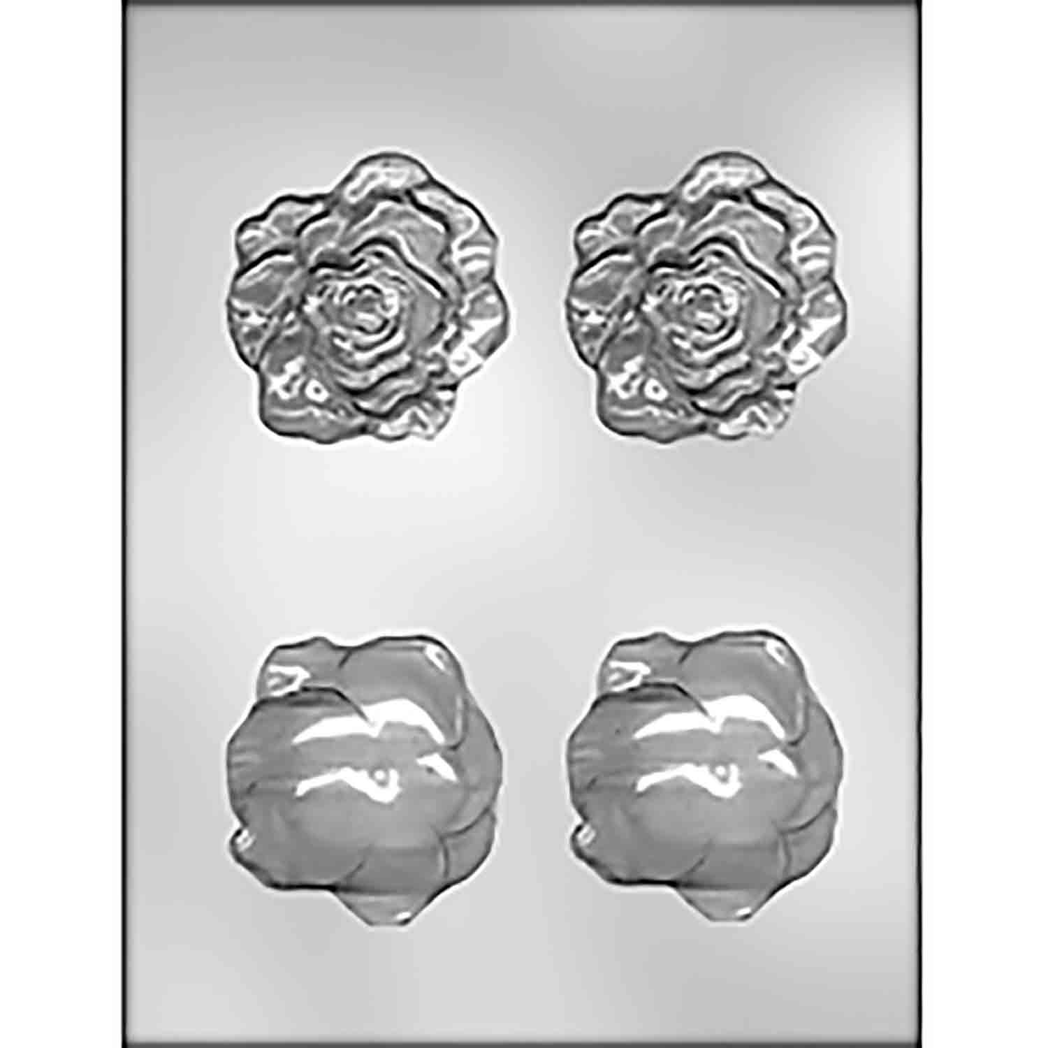 3D Full Bloom Rose Chocolate Candy Mold