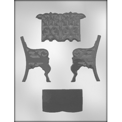 3D Garden Bench Chocolate Candy Mold
