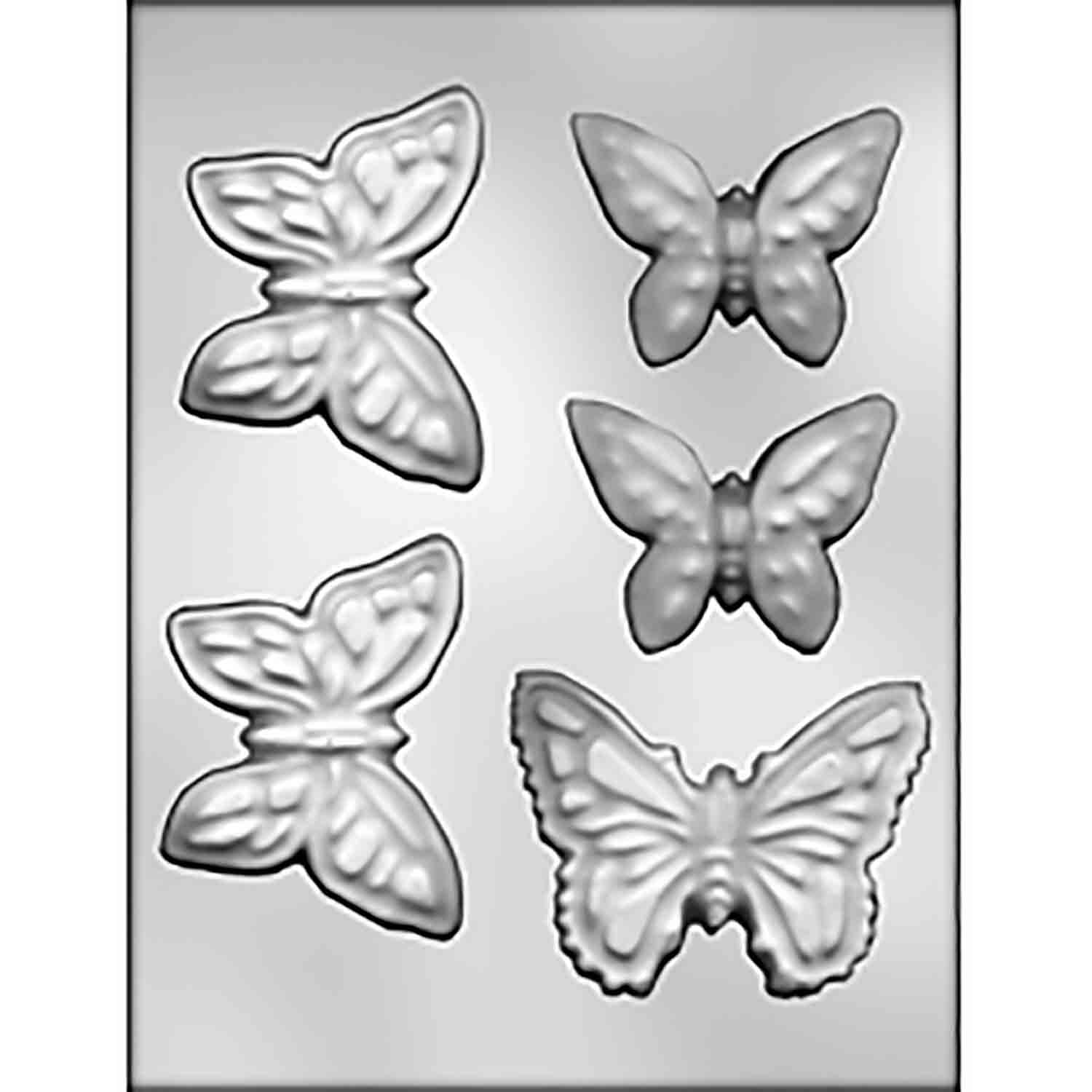 Large Butterflies Chocolate Candy Mold