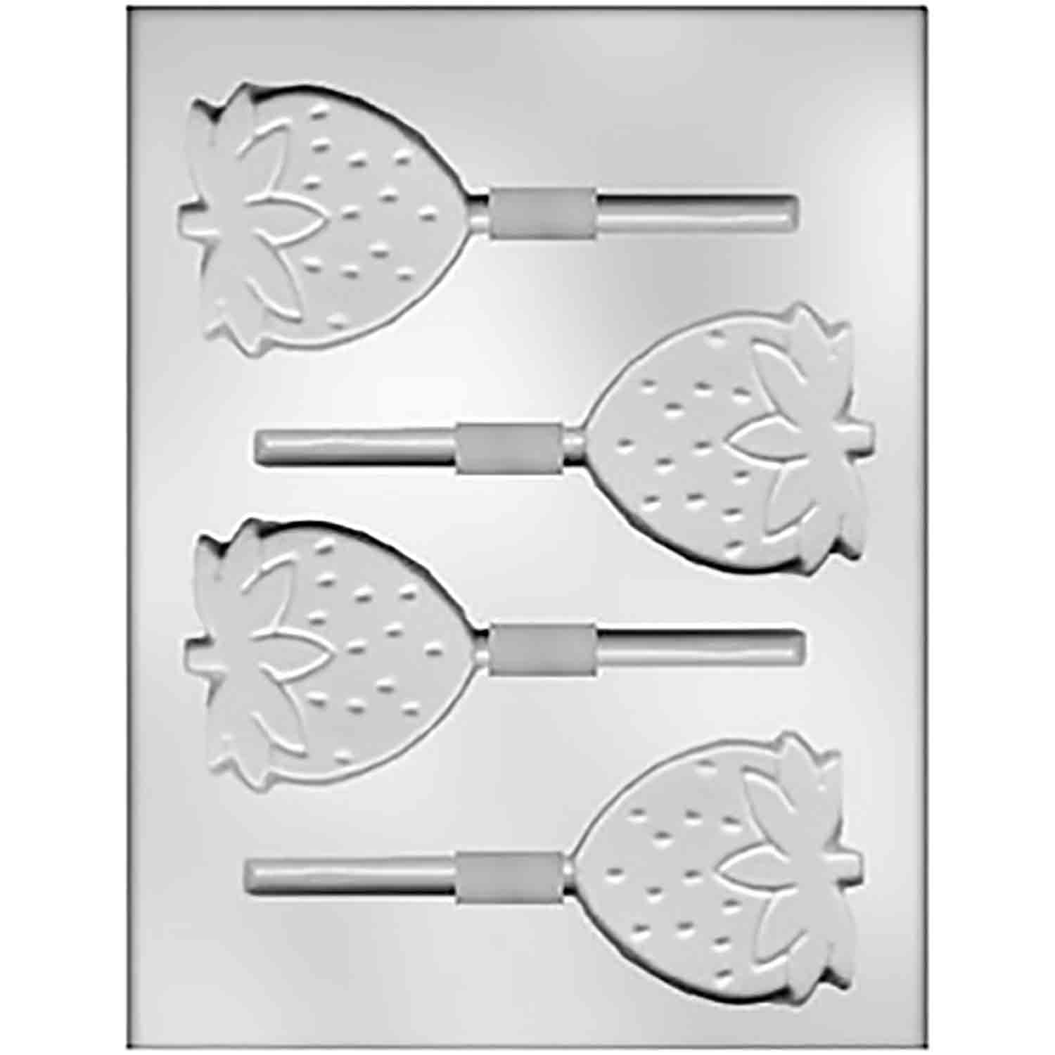 Strawberry Sucker Chocolate Candy Mold