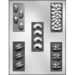 Assorted Nut Bars Chocolate Candy Mold