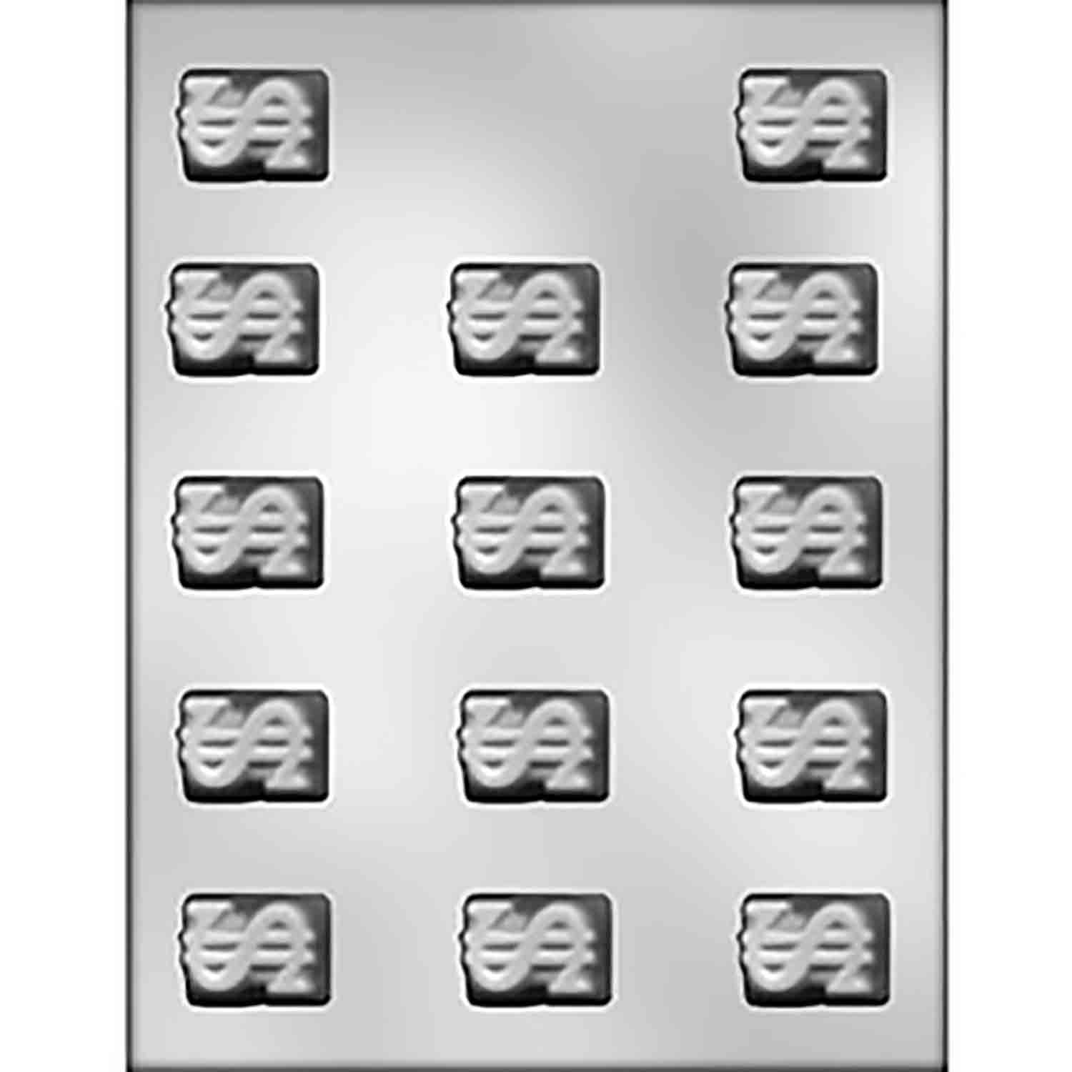 Dollar Sign Candy Mold