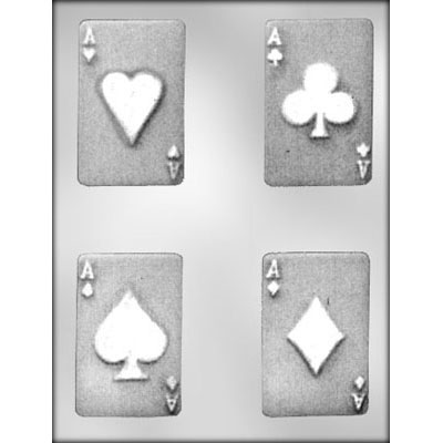 Cards 4 Aces Chocolate Candy Mold
