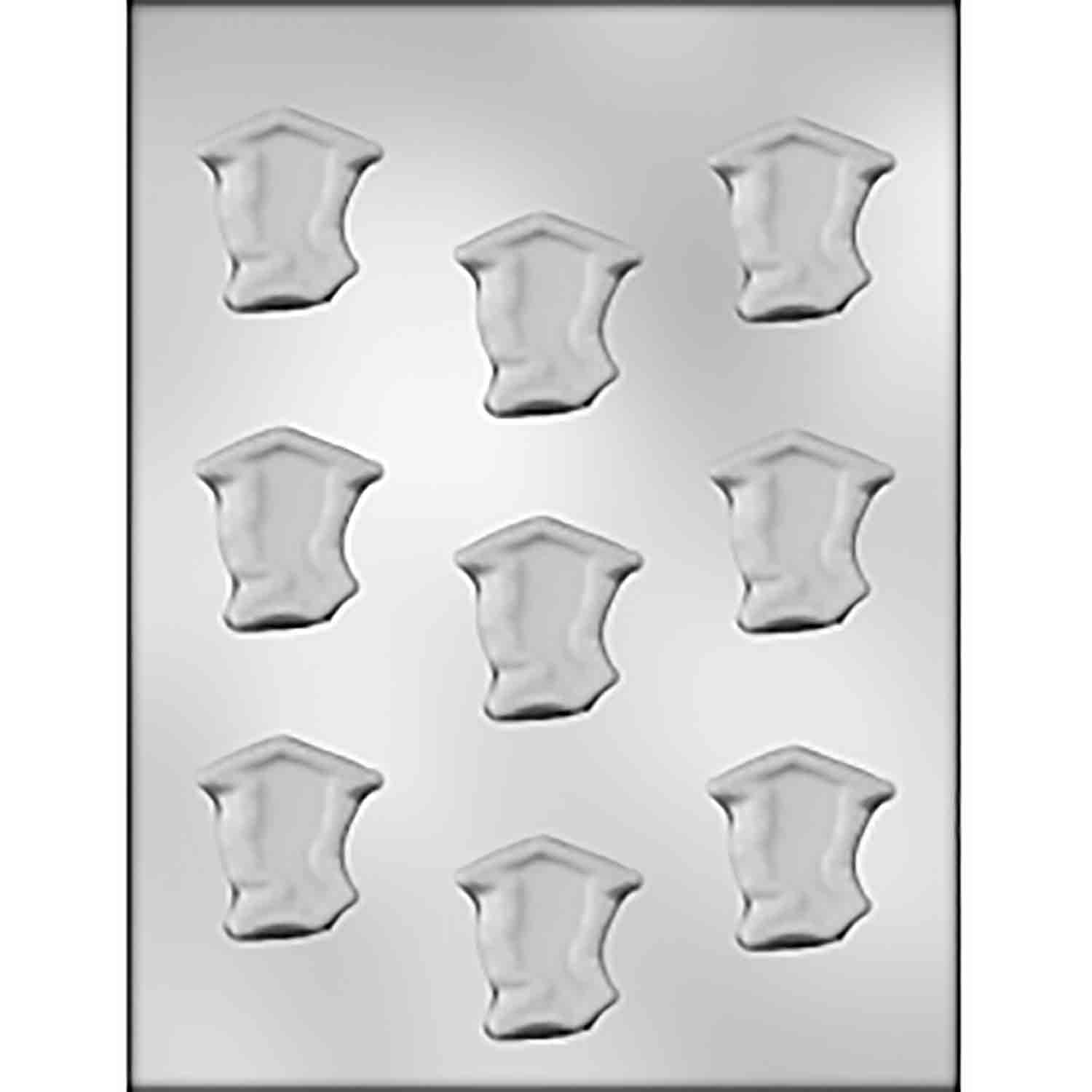 Graduate Boy Silhouette Mint Chocolate Candy Mold