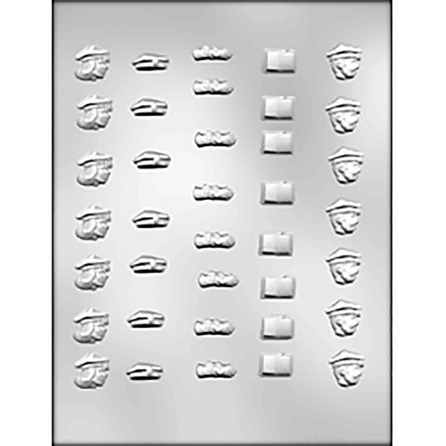Graduation Lay-Ons Chocolate Candy Mold
