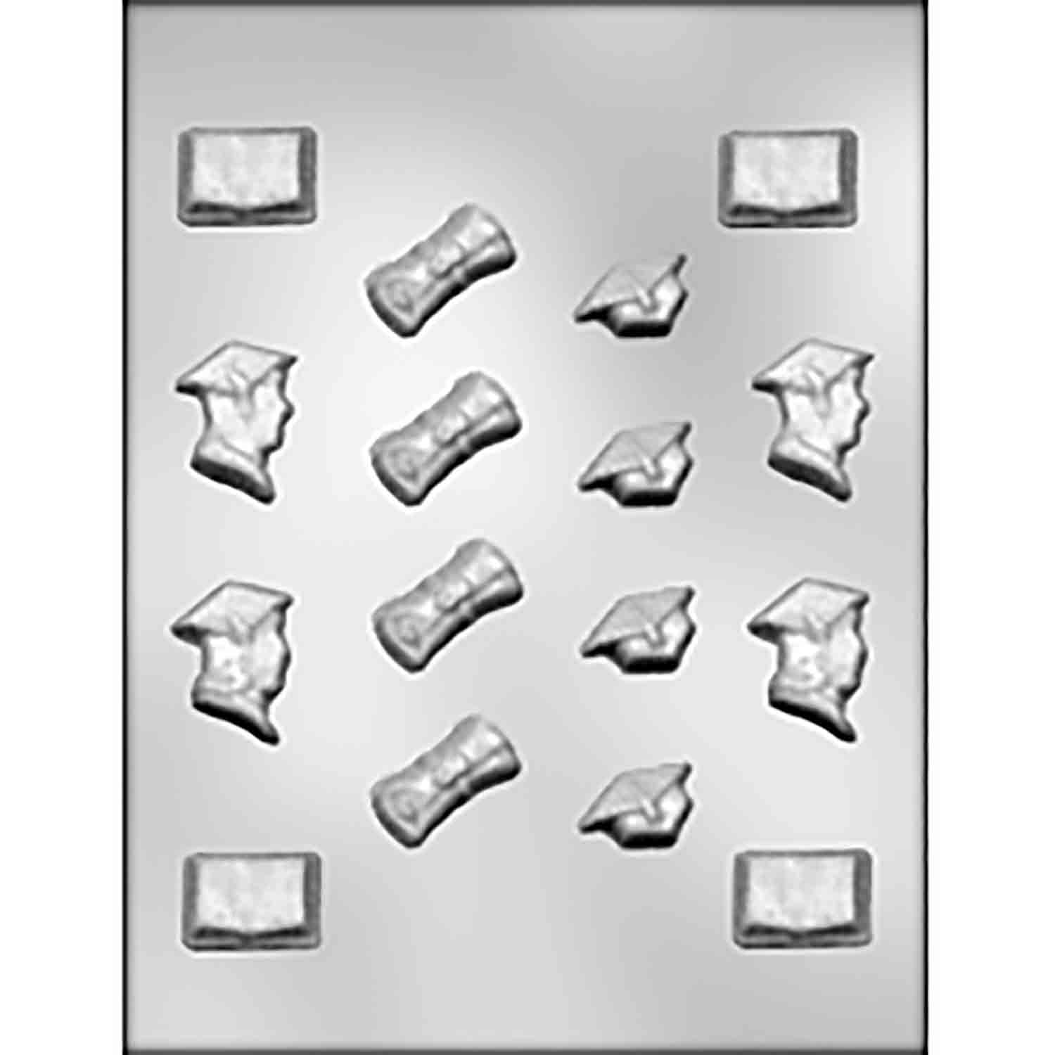 Graduation Assortment Chocolate Candy Mold