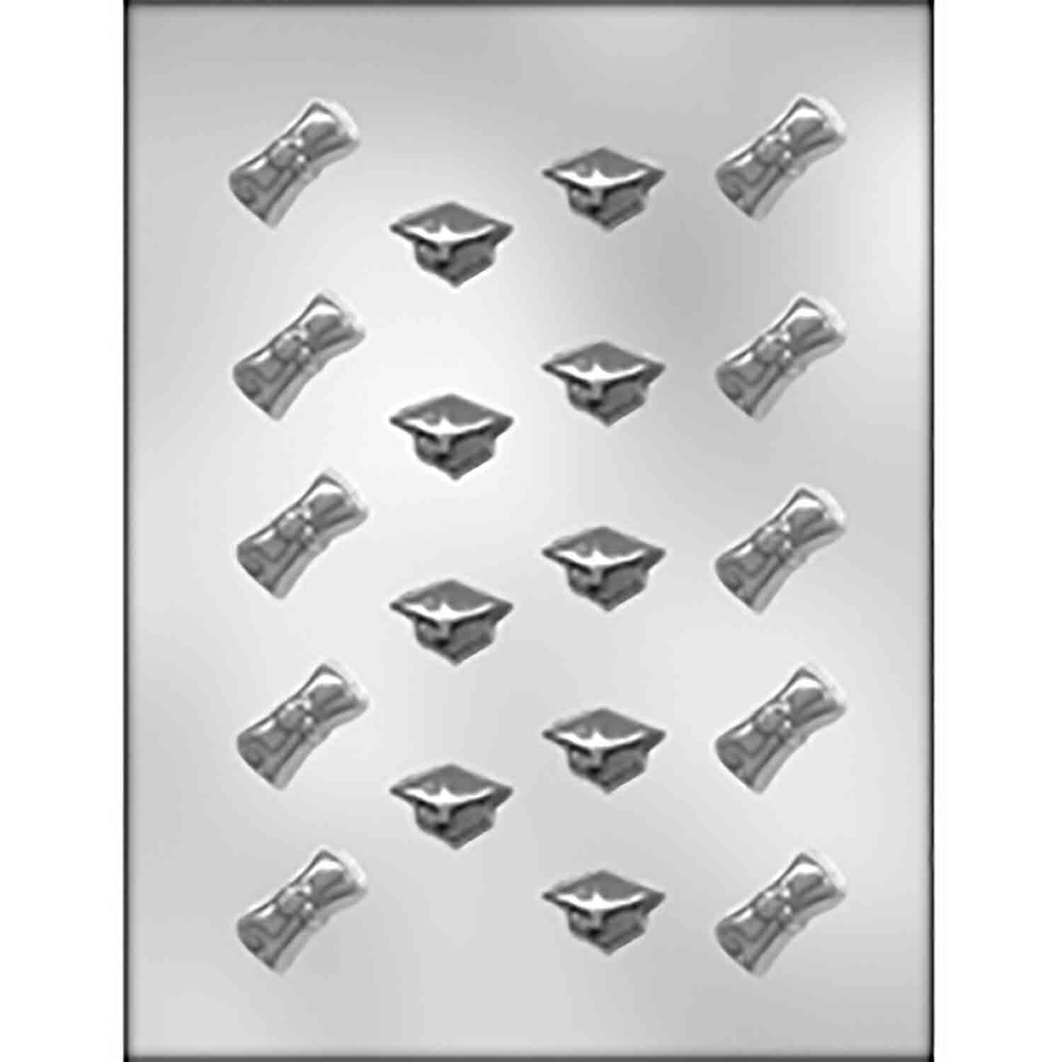Diplomas & Graduation Caps Chocolate Candy Mold