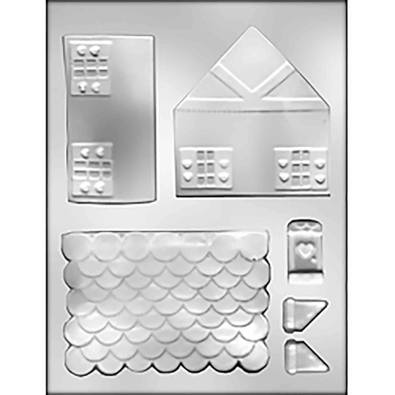 3D Gingerbread House Chocolate Candy Mold