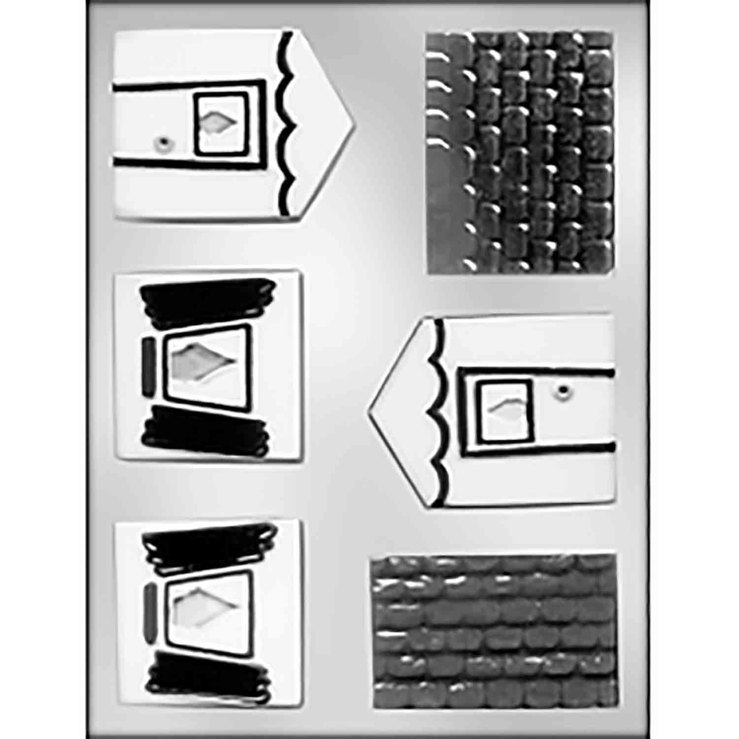Small 3D House with Scallops Chocolate Candy Mold