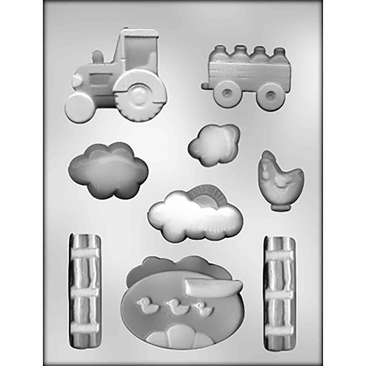 Farm Scene Chocolate Candy Mold