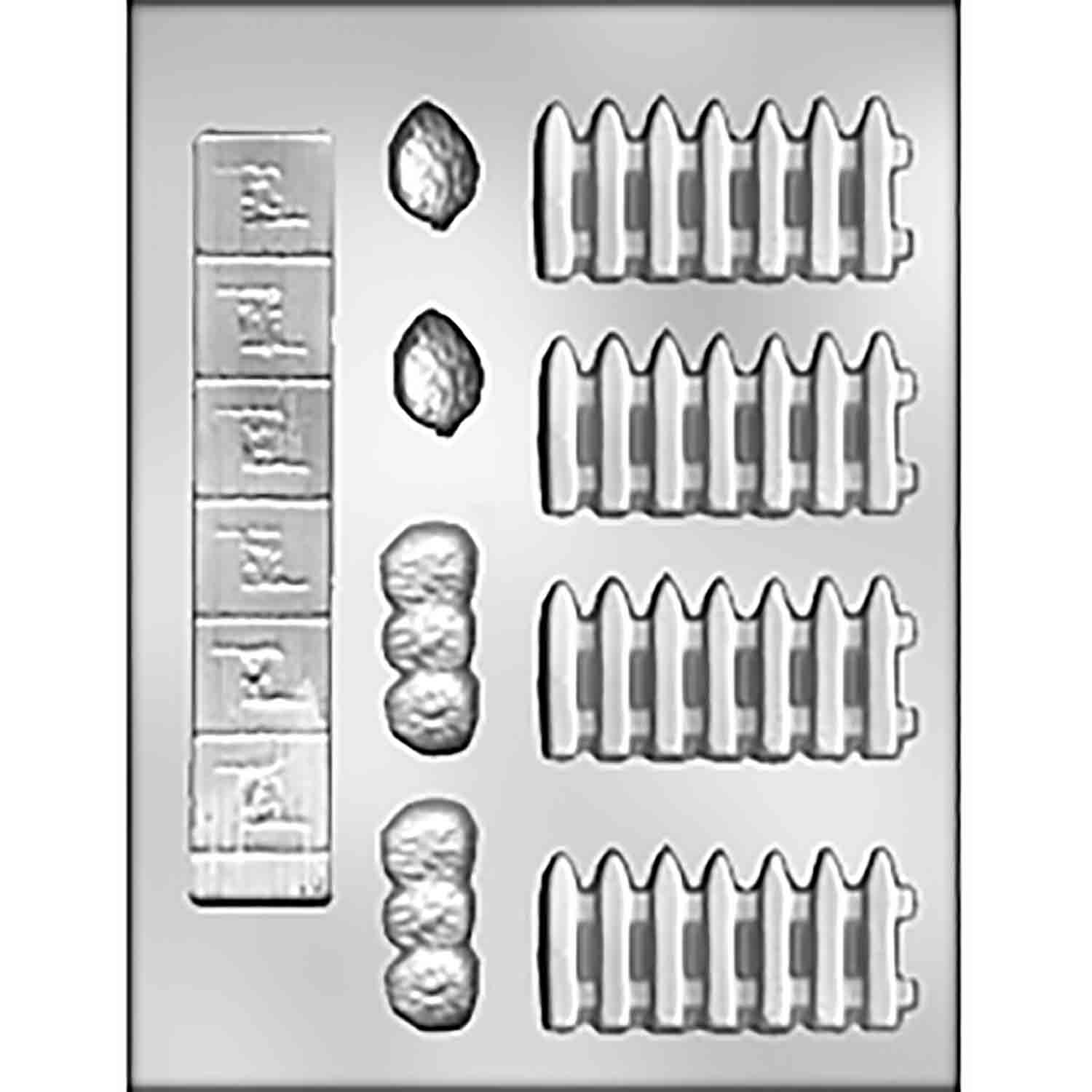 Fence & Sidewalk Chocolate Candy Mold