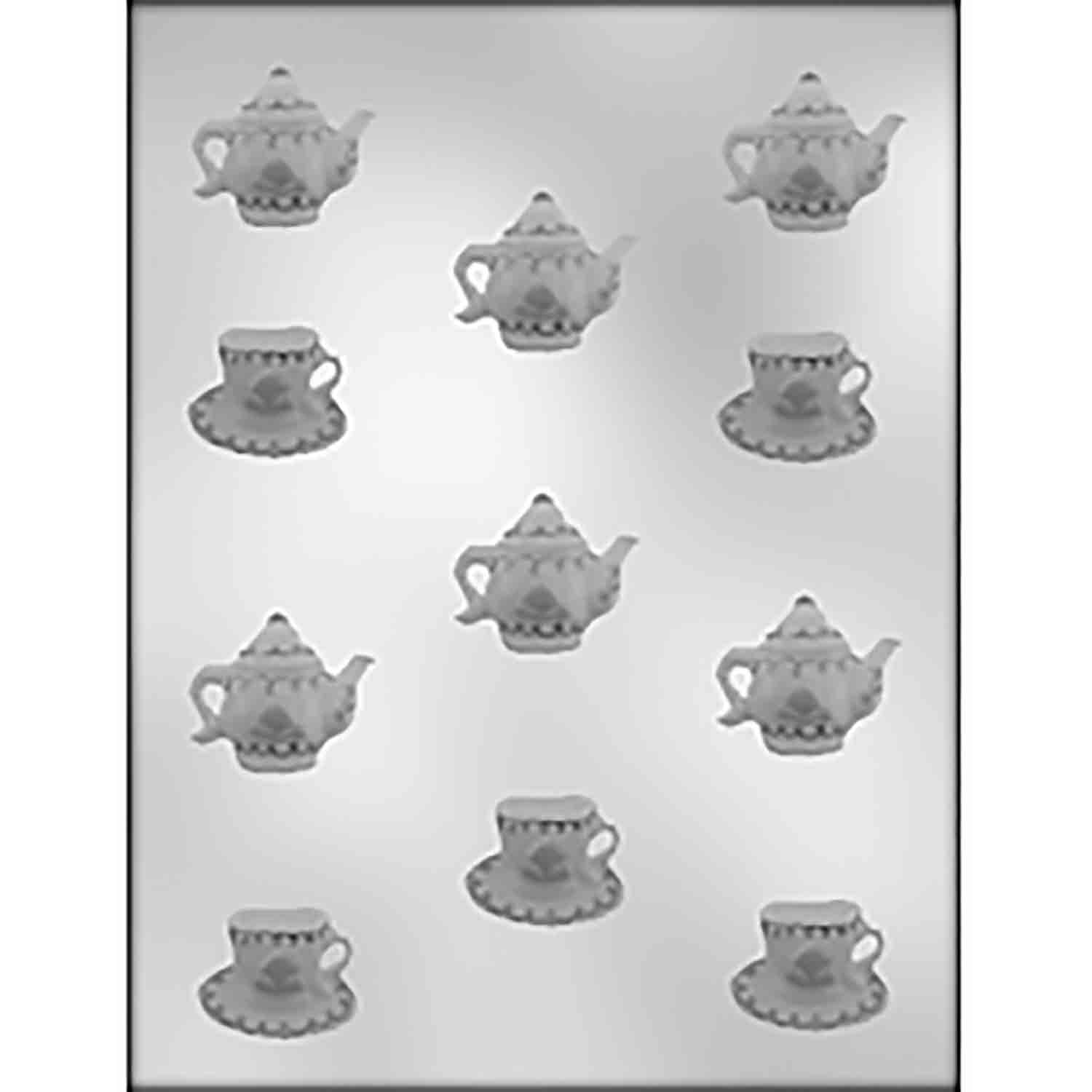 Cup, Saucer, & Teapot Chocolate Candy Mold