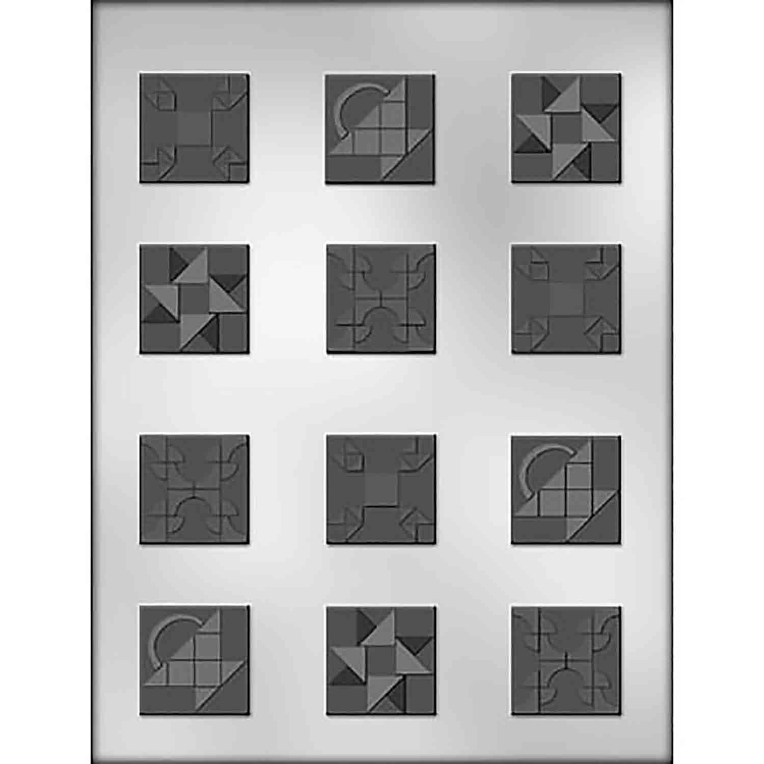 Quilt Squares Chocolate Candy Mold