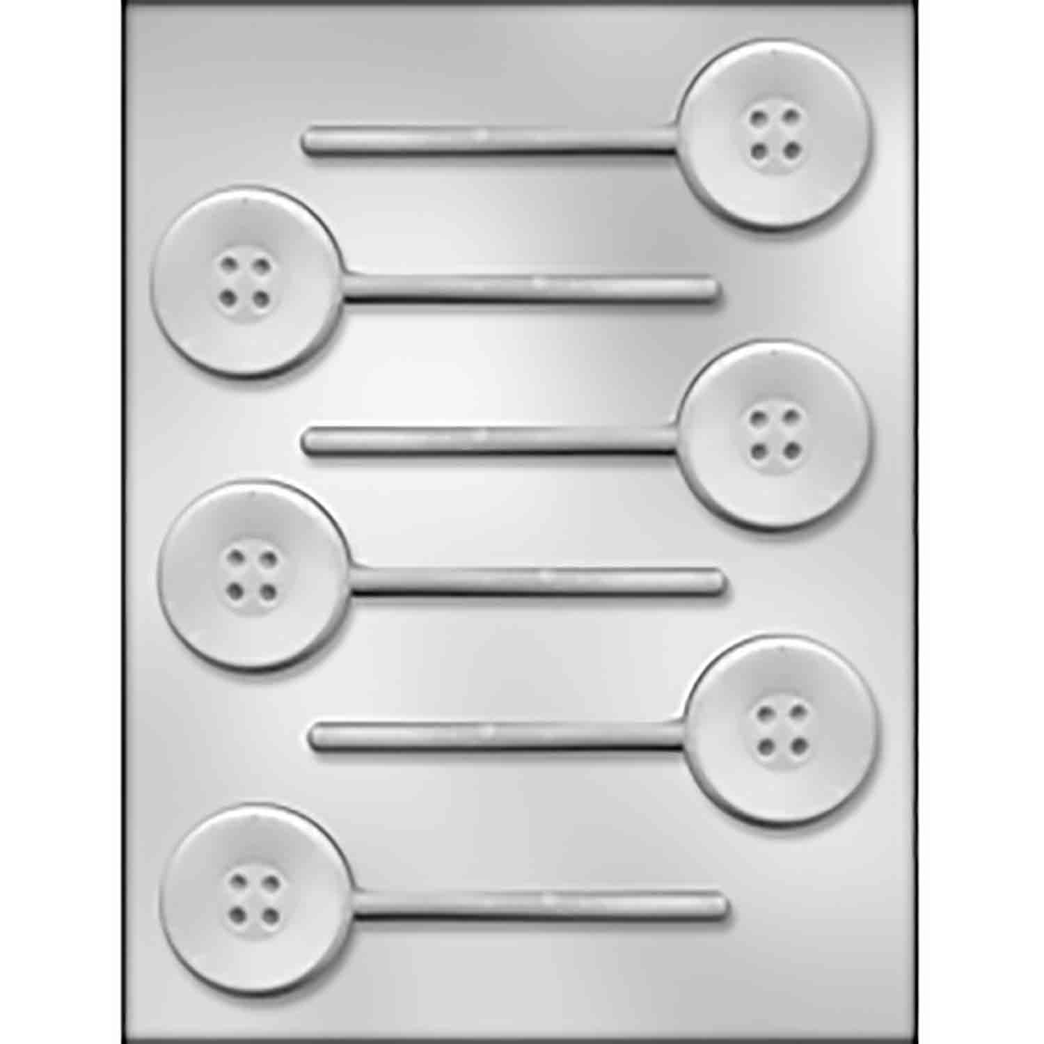 Button Sucker Chocolate Candy Mold